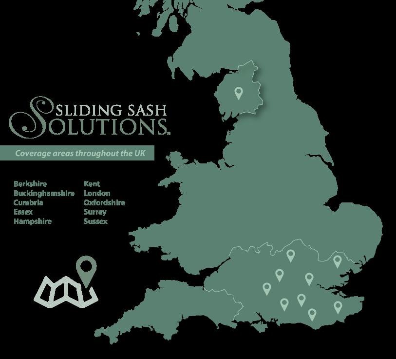 Sliding Sash Solutions Coverage Area